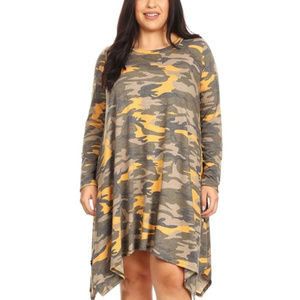 PLUS SIZE CAMO PRINT DRESS Boutique